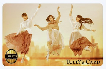 Perfume × TULLY'S COFFEE 限定デザイン タリーズ カード Perfume