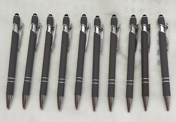 新品 ボールペン 10本組 企業サンプル品 グレー タッチペ
