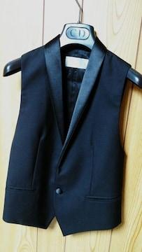正規美 Dior Hommeディオールオム スモーキングショールジレ黒 ブラックベスト 最小38