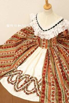 オフショルミドル丈ドレス