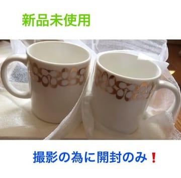 新品未使用☆COACH コーチ マグカップ 2個セット★専用保存箱付