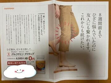 グルコサミンアクティブ 定価4500円→無料→申込用紙1枚
