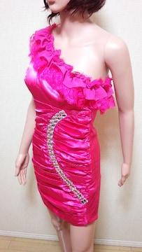新同品☆キャバ☆Oneショル&デカビジュLineのドレス☆3点で即落