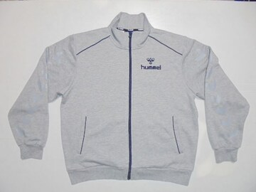 ヒュンメルジャージスポーツウェアスウェットジャケット裏毛灰紺