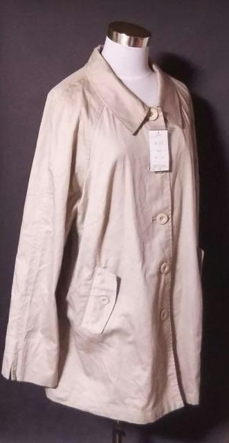 新品秋物ベージュコート3L大きいサイズ送料198円 < 女性ファッションの