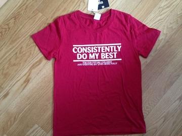 新品タグ付 ロデオクラウンズ ロゴ Tシャツ 赤 レッド デニムに