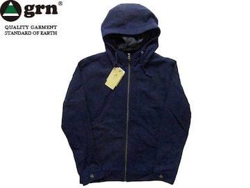 フード  ジャケット 紺 ネイビー M