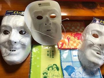 白仮面3個 アニメ狼の子供雨と雪ミニハンカチ3枚