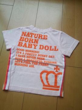 新品サイドラインTシャツ ピンク80ベビードールBABYDOLLベビド