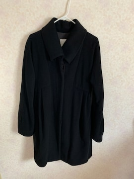 ルシェルブルーアンシャントマン ウールカシミヤコート黒38