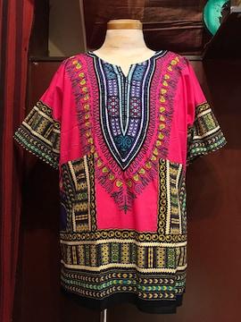アフリカ民族衣装ダシキ★ピンク★アジアン★ダンス★衣装★