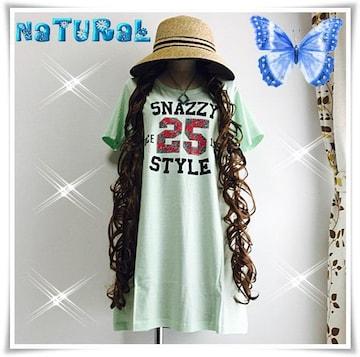 新作★大きいサイズ3L ナンバーロゴプリTシャツ/綿100%*緑