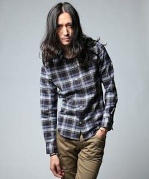 ラウンジリザード チェックシャツ