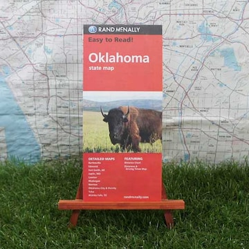新品【輸入地図】オクラホマ州 State Map -Rand McNally-