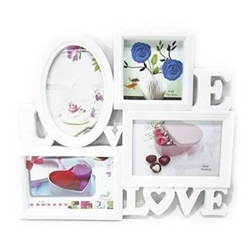 LOVE & LOVEデザインおしゃれな白いフォトフレーム