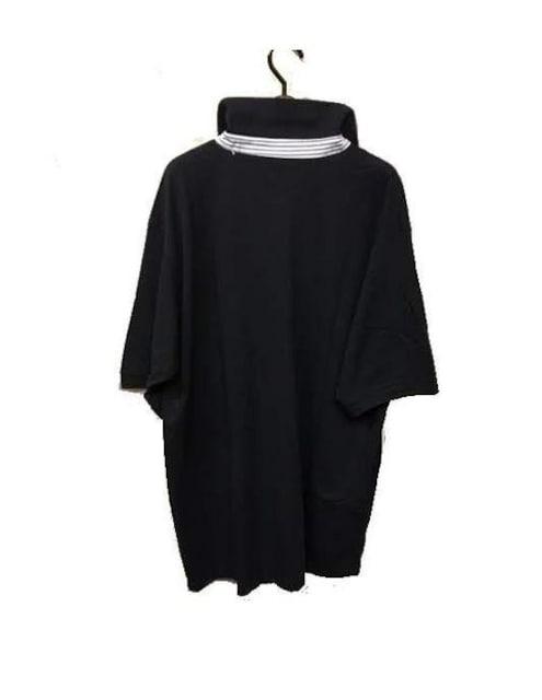セール新品送込おしゃれポロシャツLネイビー★ビッグシルエット★シンプルストリート < 男性ファッションの