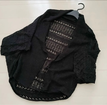 新品 透かし編みカーディガン