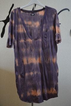 LGBルグランブルー ムラ染めロング丈Tシャツワンピ