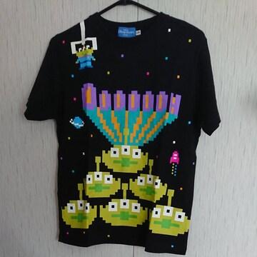 ディズニー☆リトルグリーンメンのTシャツ☆size150☆黒