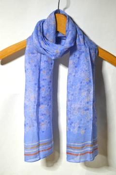 新品 gredecana グリデカナ ストール スカーフ マフラー ブルー