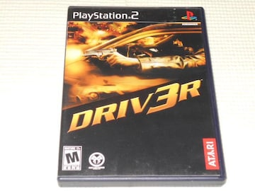 PS2★DRIV3R 海外版★箱付・説明書付・ソフト付★初期動作確認済