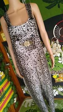 激℃-ute(*≧ω≦)ベロアオーバーオール□サロペット◆豹柄