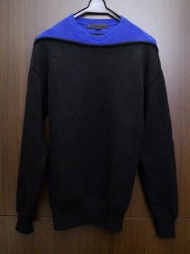 レア7万◆アレキサンダーワン 2トーン ウールニット セーター S