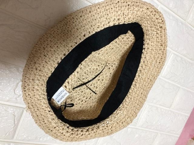 新品キューティーブロンド細編み中折れハット麦わら帽子ベージュ < ブランドの