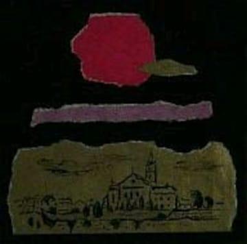 絵画 水彩+油彩 吉岡健二『丘の上の教会』真作保証