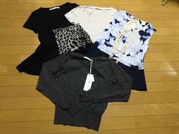 BLACK BY MOUSSY(ブラックバイマウジー)カットソー3枚+カーデ+他6点セット