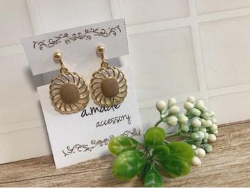 ...handmade earring/モカチャーム...