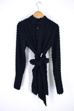 NO ID.BLACK(ノーアイディー ブラック)フリンジJQストール付ロングシャツシャツ