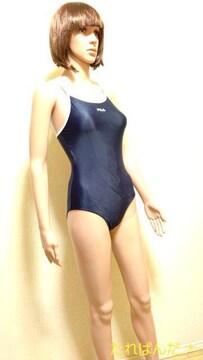 美品☆大きい160☆FILA☆光沢ネイビー競泳 水着5374☆3点で即落