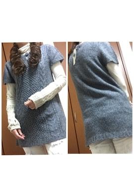 新品♪可愛い☆手編み♪ニット トップス☆ミニワンピース ☆