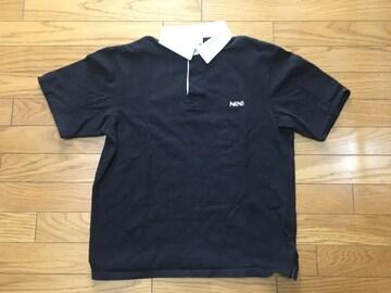 中古ナンバーナイン1ポロシャツ色あせ使用感あり黒白