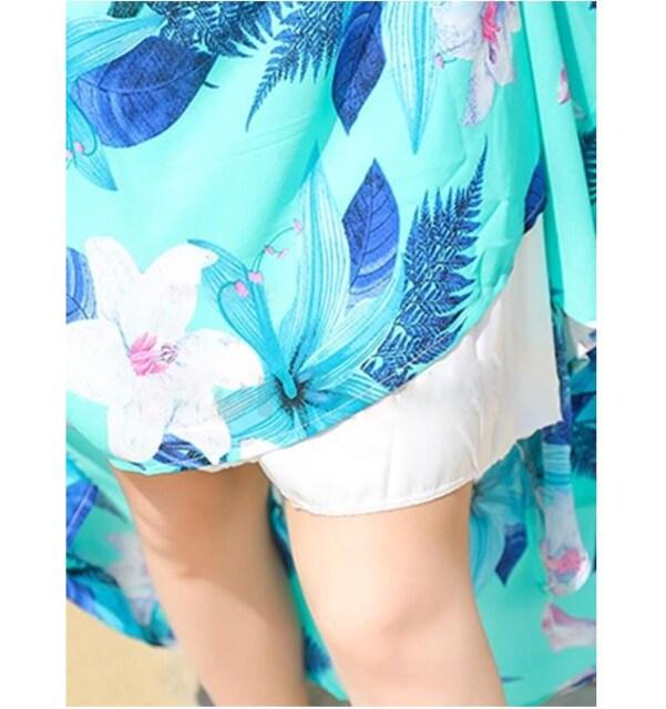 即決春夏百合の花柄マキシワンピ ピンク M < 女性ファッションの