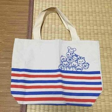 ディズニー・ツムツムキャラクター&ボーダー柄トートバッグ