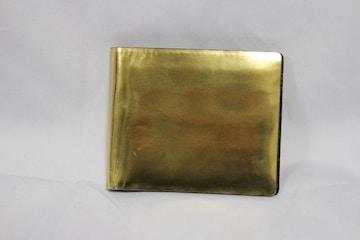 ジバンシー 二つ折り札入れ メタリックゴールド スペイン製