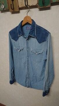 BLUE BLUE 切替デニムシャツ 2 インディゴ