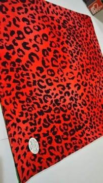 ◆新品◆バンダナ◆ヒョウ柄◆Black/Red◆