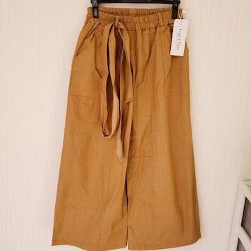 新品 ゆるカジ シルエットがかわいい パンツ S