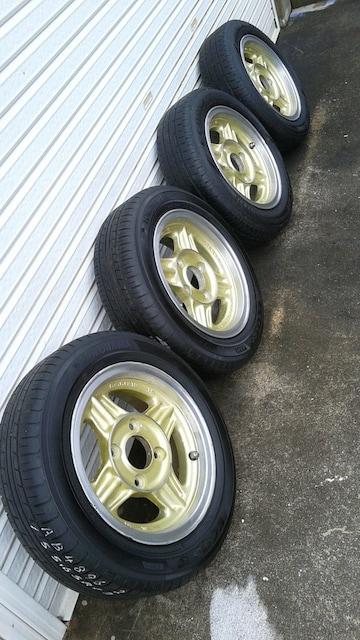 シャコタン 旧車 サニー ALMEX ブルーバード 4本 ミラ ワゴンR < 自動車/バイク