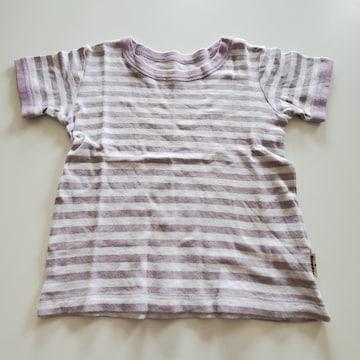 紫ボーダー半袖Tシャツ110