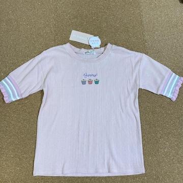 新品タグ付き140半袖Tシャツ ピンク�E