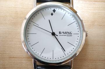 ビームス BEAMS B:MING 白文字盤 クォーツ 腕時計 メンズ