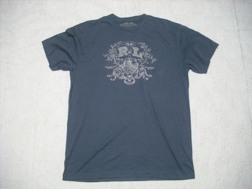 39 男 ラルフローレン 紺 半袖Tシャツ L