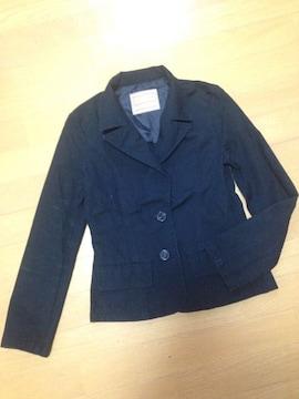 シンプル黒ブラックスーツジャケットアウターEMS