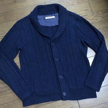 美品JOURNAL STANDARD ケーブルニットカーデ ジャーナル