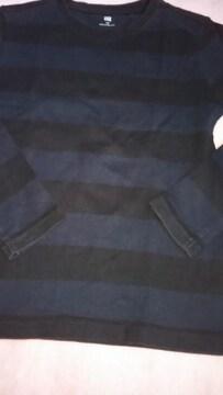 ユニクロ黒。紺ボーダー130