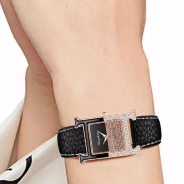 【特A品】H型 ダイアモンド ゴールド 腕時計 新品
